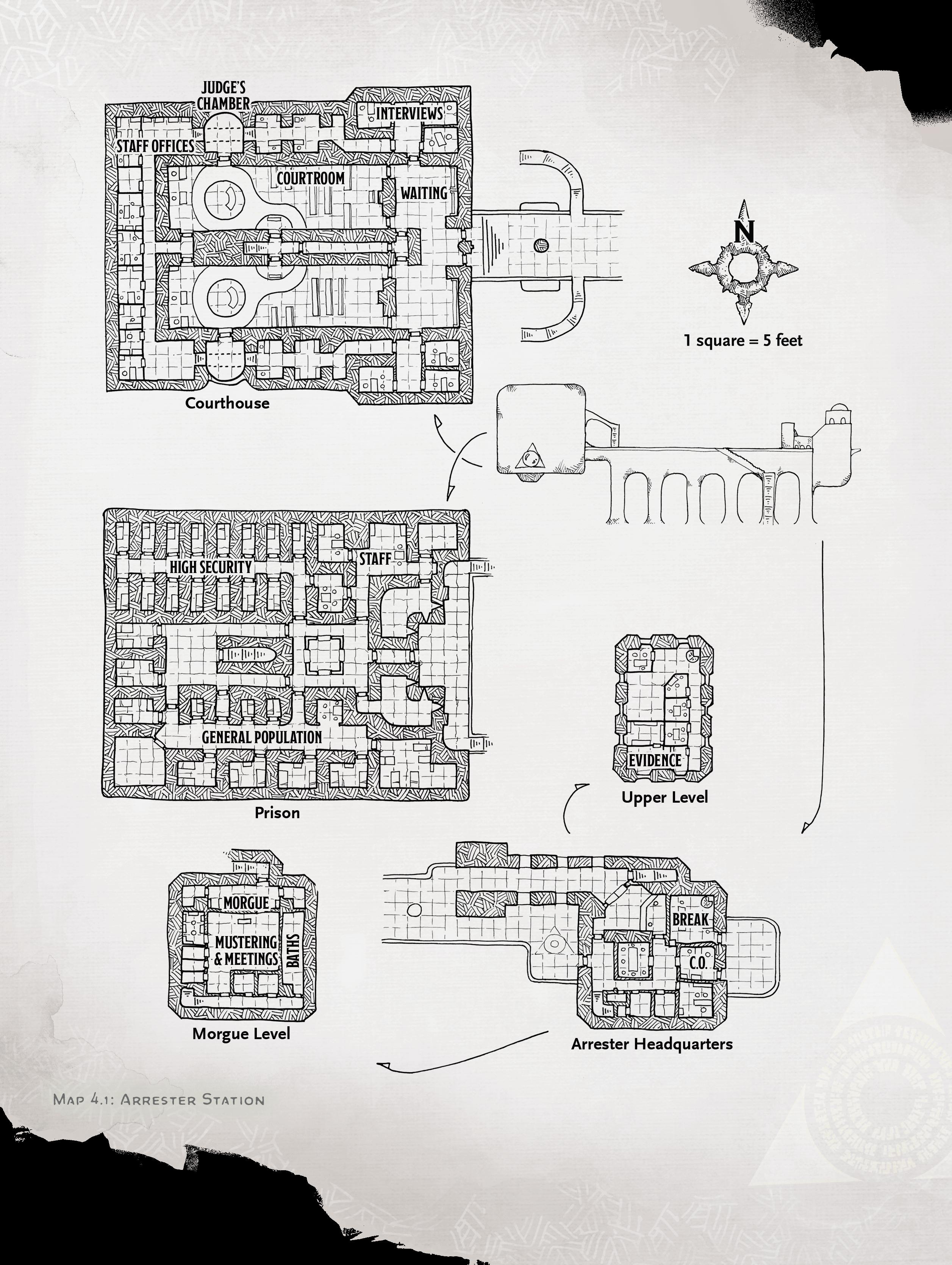arrester station map